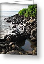 Rocky Maui Coast Greeting Card