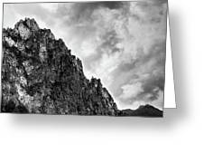 Rocky Mountain And Stormy Cloudy Sky Greeting Card by Michalakis Ppalis