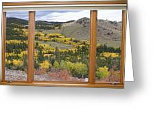 Rocky Mountain Autumn Picture Window View Greeting Card