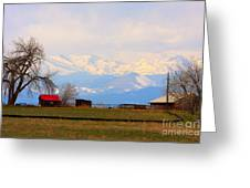 Rocky Mountain Boulder County View Greeting Card