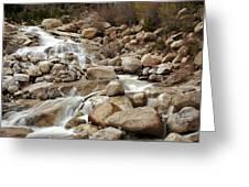 Rocky Mountain Cascade Greeting Card