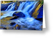 Rocky Mountain Cascade Greeting Card