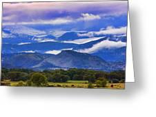 Rocky Mountain Cloud Layers Greeting Card