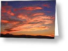 Rocky Mountain Front Range Sunset Greeting Card