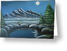 Rocky Mountain Fullmoon Greeting Card