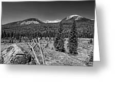 Rocky Mountain National Park Black And White Greeting Card