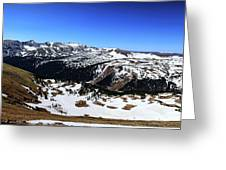 Rocky Mountain National Park Pano 2 Greeting Card