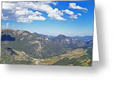 Rocky Mountain National Park Panoramic Greeting Card