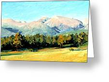 Rocky Mountain Panoramic Greeting Card by Mary Giacomini