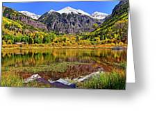 Rocky Mountain Reflections - Telluride - Colorado Greeting Card
