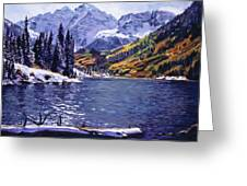 Rocky Mountain Serenity Greeting Card by David Lloyd Glover