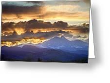 Rocky Mountain Springtime Sunset 3 Greeting Card