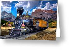 Rocky Mountain Train Greeting Card