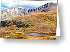 Rocky Mountain Tundra And Lake Greeting Card