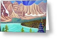 Rocky Mountain View 3 Greeting Card