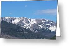 Rocky Mountain Waning Gibbous Moon Set Greeting Card