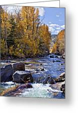 Rocky Mountain Water 8 X 10 Greeting Card by Kelley King