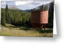 Rocky Mountain Water Tower Greeting Card