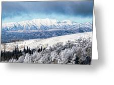 Rocky Mountain Winter Greeting Card