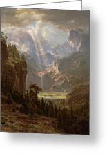 Rocky Mountains, Lander's Peak Greeting Card