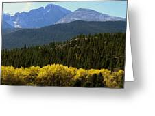 Rocky Mts Mtn M 209 Greeting Card