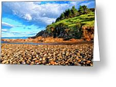 Rocky Oregon Beach Greeting Card