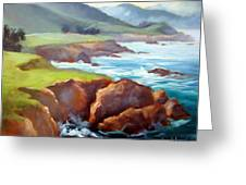 Rocky Point Afternoon Big Sur Greeting Card