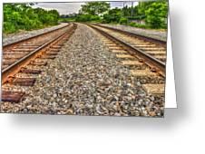 Rocky Railroad Rails Greeting Card