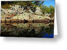 Rocky Reflection Greeting Card