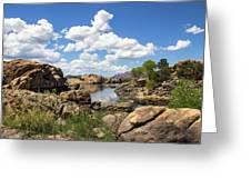 Rocky Shore And Pristine Water Greeting Card