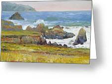 Rocky Shore Breakers Greeting Card by Max Mckenzie