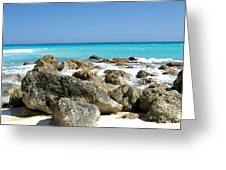 Rocky Shore--cancun Greeting Card