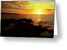 Rocky Shore Greeting Card by Kamil Swiatek