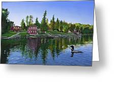 Rocky Shore Lodge Greeting Card