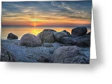 Rocky Sunset Greeting Card