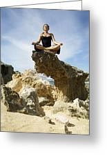 Rocky Yoga Greeting Card