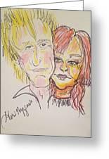 Rod Stewart And Cyndi Lauper Tour 2017 Greeting Card