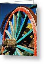 Rode Hard And Put Up - Wagon Wheel Rustic Country Rural Antique Greeting Card