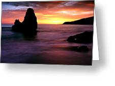 Rodeo Beach At Sunset, Golden Gate Greeting Card