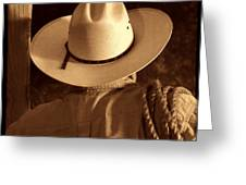 Rodeo Cowboy Greeting Card