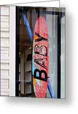 Rodeo Drive Surfboard Greeting Card