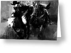 Rodeo In Black Greeting Card