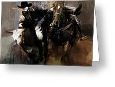 Rodeo Painting Greeting Card