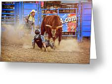 Rodeo Rider Down Greeting Card