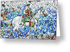 Rodeo Wrangler Mosaic Greeting Card