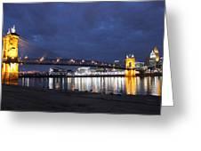 Roebling Bridge Span Greeting Card