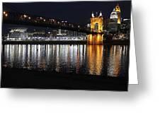 Roebling Bridge Greeting Card