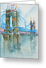 Roebling On The Ohio River Greeting Card