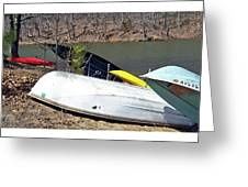 Rowboats Ashore  Greeting Card