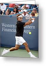 Roger Federer Greeting Card by Keith Allen